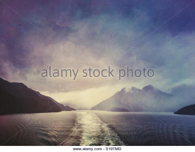 Milford Sound, New Zealand - Stock Image