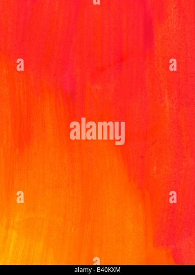 red and orange watercolor wash background - Stock-Bilder