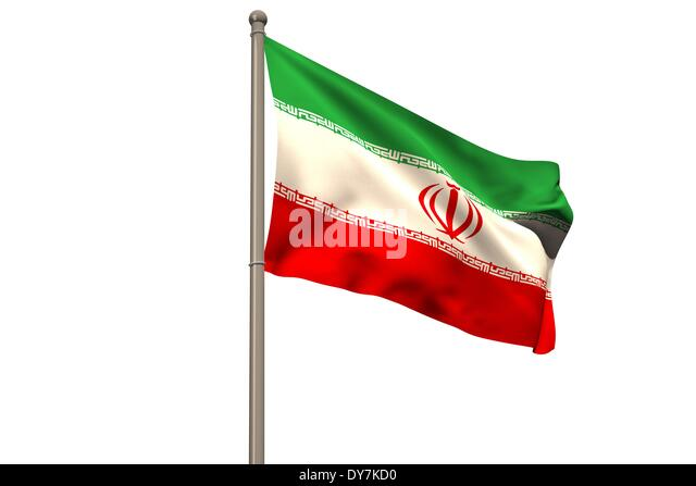 Digitally generated iran national flag - Stock Image
