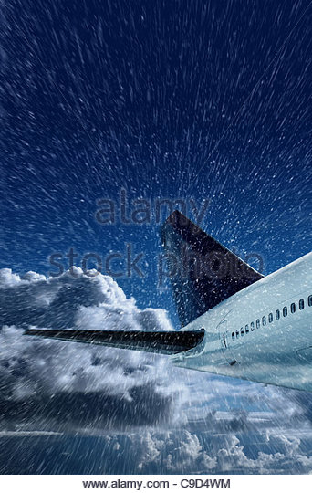 aircraft in snow - Stock Image