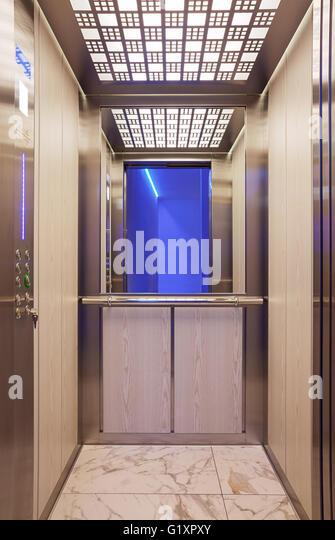 Modern elevator door stock photos modern elevator door for Modern elevator design