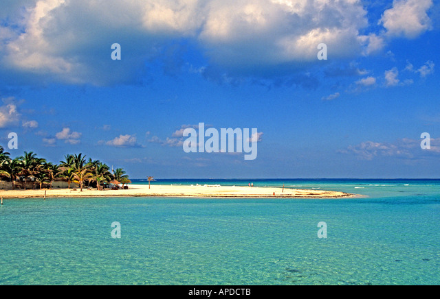 Mexico Isla Mujeres North Beach yucatan - Stock Image