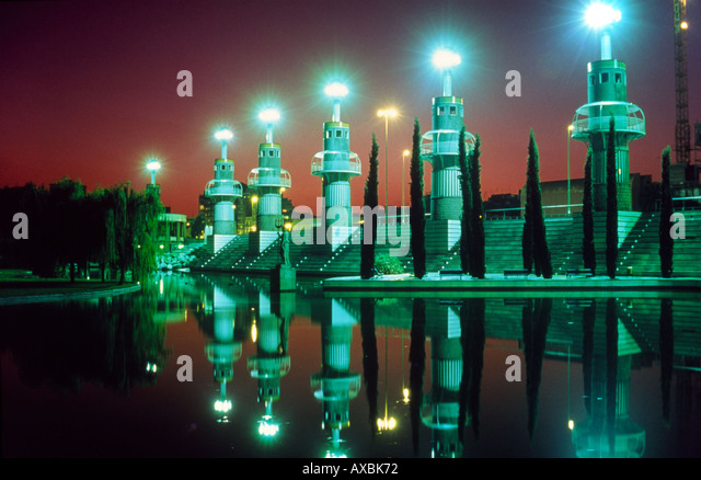 Barcelona Park de l Espanya Industrial Barcelona former textil factory - Stock Image