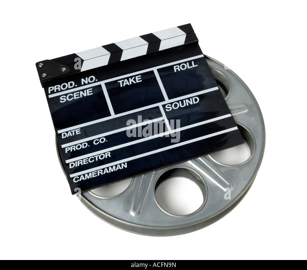 Movies Reel Film elevated view - Stock Image