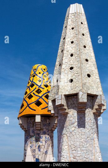 Palau Guell Roof Stock Photos & Palau Guell Roof Stock Images - Alamy