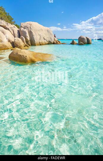 Corsica - Santa Giulia Beach, Porto-Vecchio, France - Stock Image