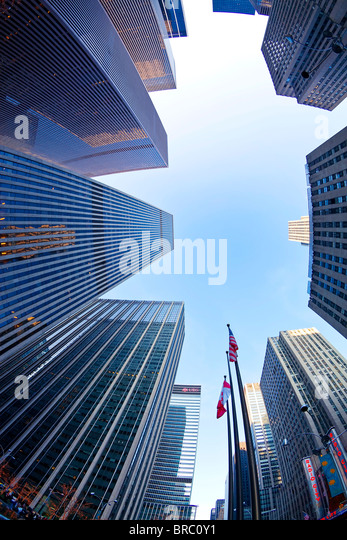 Financial district of Sixth Avenue, Manhattan, New York City, New York, USA - Stock Image