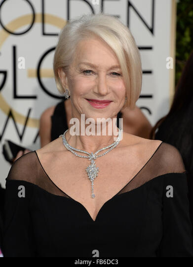 Los Angeles, California, USA. 10th January, 2016. Helen Mirren arrives at the Golden Globes, Los Angeles, CA © - Stock Image