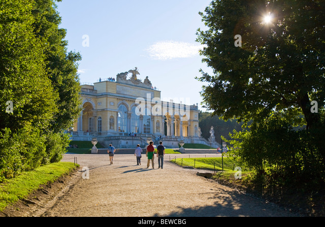 Schoenbrunn castle, Vienna, Austria - Stock Image