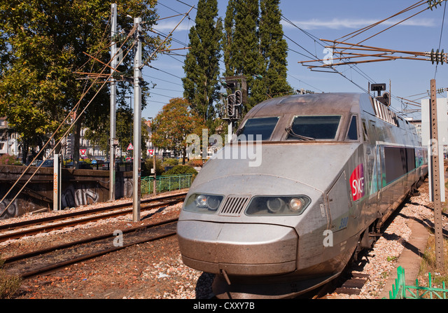 french bullet train stock photos french bullet train stock images alamy. Black Bedroom Furniture Sets. Home Design Ideas