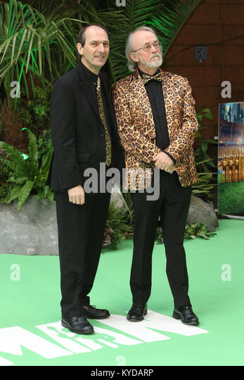 London, UK. 14th January, 2018. David Sproxton, Peter Lord, Aardman Co-founders, Early Man - World premiere, BFI - Stock Image