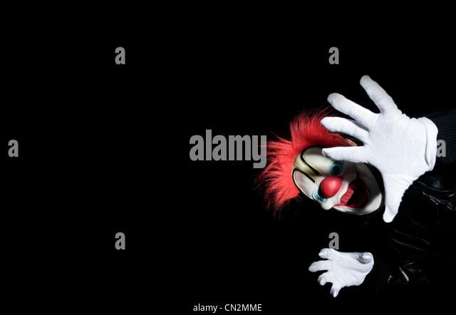 Person in clown costume - Stock Image
