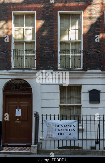 England London, Benjamin Franklin House - Stock Image