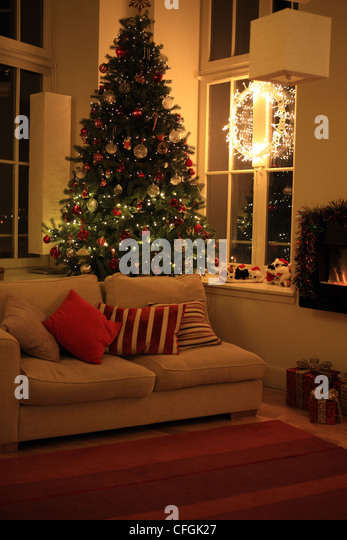Living Room Uk Christmas Stock Photos Living Room Uk Christmas Stock Images Alamy
