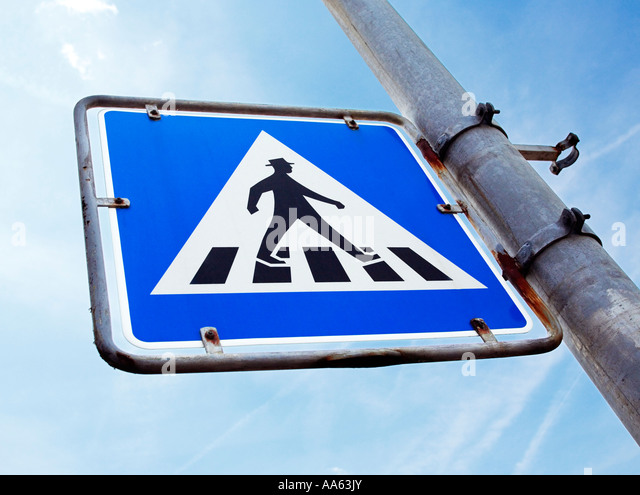 German pedestrian crossing sign, Germany, Europe - Stock Image