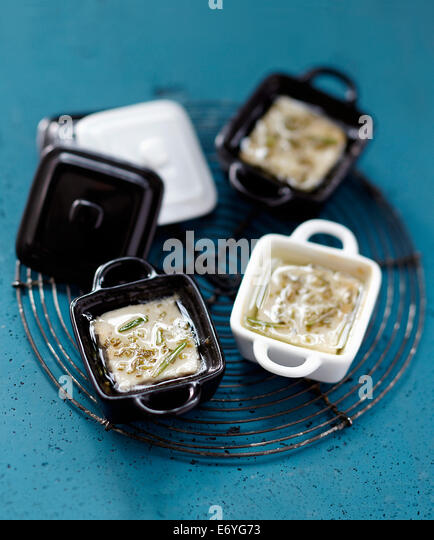 Tuna in oil with rosemary - Stock Image