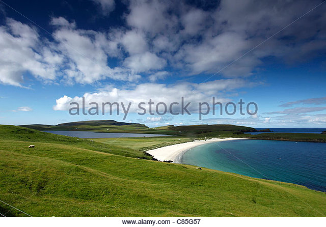 Spiggie Beach, Mainland, Shetland Islands, Scotland - Stock Image