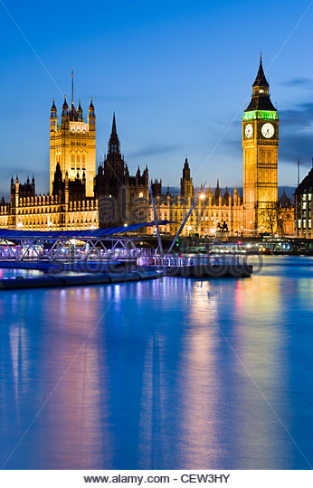 Big Ben and the Houses of Parliament, London - Stock Image