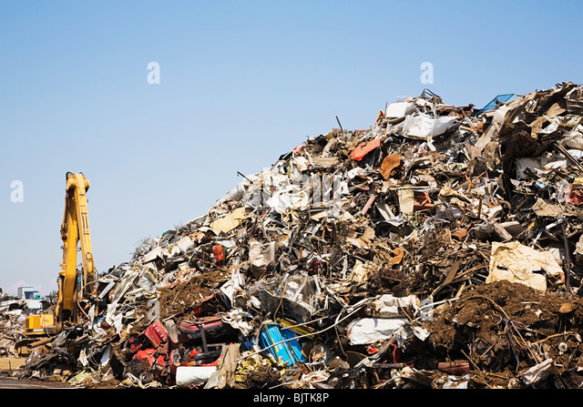 Scrap heap - Stock Image