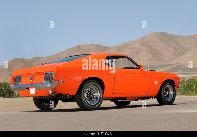 Ford Mustang Boss 429 1970. Artist: Simon Clay. - Stock Image