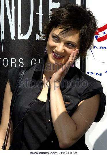 Italian-born director and actress Asia Argento poses for photographers during a photocall at the American Pavillon - Stock Image