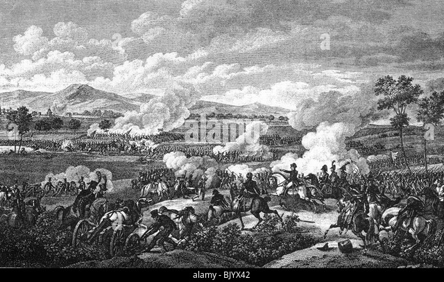 events, War of the Second Coalition 1799 - 1802, Battle of Marengo, 14.6.1800, contemporary copper engraving by - Stock Image