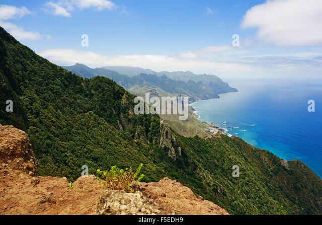 Anaga Mountains and Costa Adeje, Tenerife, Canary Islands, Spain, Atlantic, Europe - Stock-Bilder