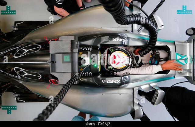 Silverstone, Northants, UK. 03rd July, 2015. Motorsports: FIA Formula One World Championship 2015, Grand Prix of - Stock-Bilder