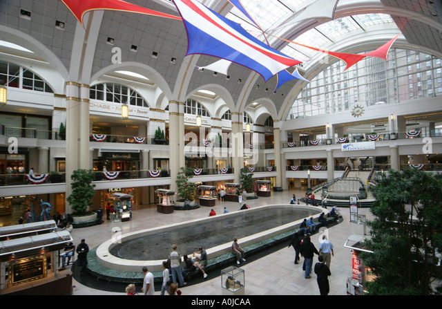 Cleveland Ohio Tower City Center shopping - Stock Image