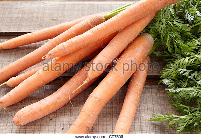 assortment of carrots - Stock Image