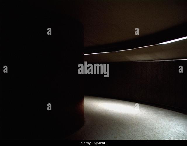 Empty curved walkway - Stock Image