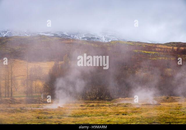 Geysir iceland - Stock Image