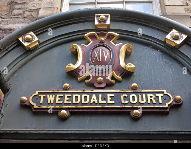 Tweeddale Court Royal Mile , Edinburgh old town , Scotland - Stock Image