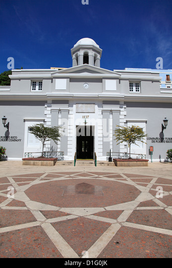 Museum, Puerto Rico Tourism Company, Paseo de la Princesa (Walkway of the Princess), Old San Juan, Puerto Rico, - Stock Image