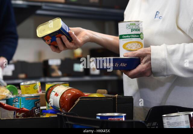 Food bank, Cornwall UK. - Stock Image