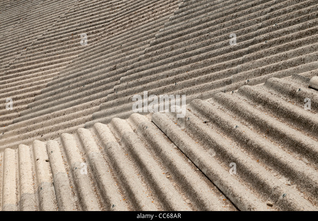 Cement asbestos stock photos cement asbestos stock for Roof covering materials