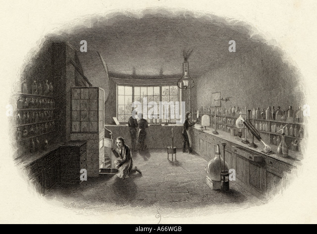 1850 Laboratory - Stock-Bilder