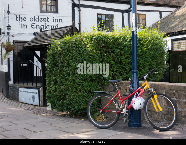 Ye Olde Trip To Jerusalem in Nottingham, UK. One of the oldest pubs in the United Kingdom. - Stock Image