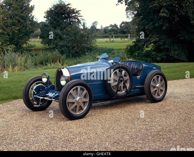 1926 Bugatti Type 35 Grand Prix 2 seater 2.0 litre inline straight 8 engine Country of origin France - Stock Image