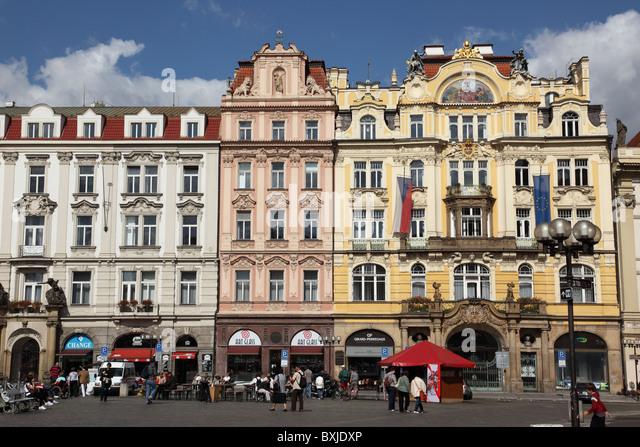 Prague Old Town Square, Czech Republic - Stock Image
