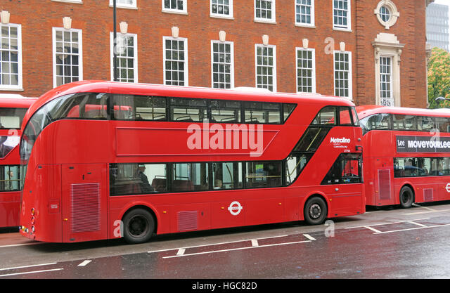 New Red London Routemaster Bus, - Stock Image
