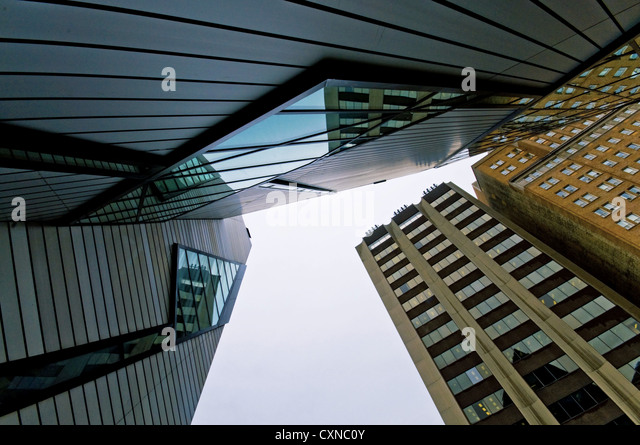 Architecture abstract fragment of designed buildings against the sky. - Stock Image