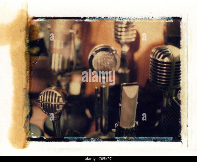 radio microphones - Stock-Bilder