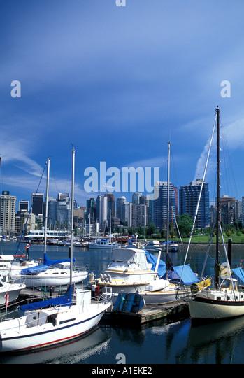 Vancouver Canada City Scenic Skyline - Stock Image