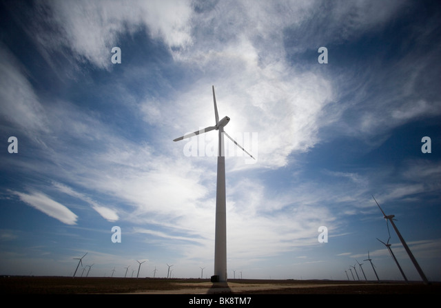 USA, Texas, Roscoe County, West Texas Wind Turbines - Stock Image