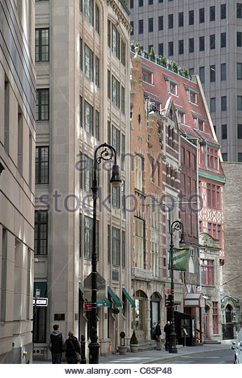 New York New York City NYC Lower Manhattan Financial District FiDi Stone Street Historic District South William - Stock Image