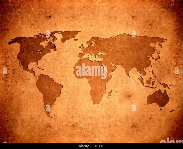 world map background - Stock Image