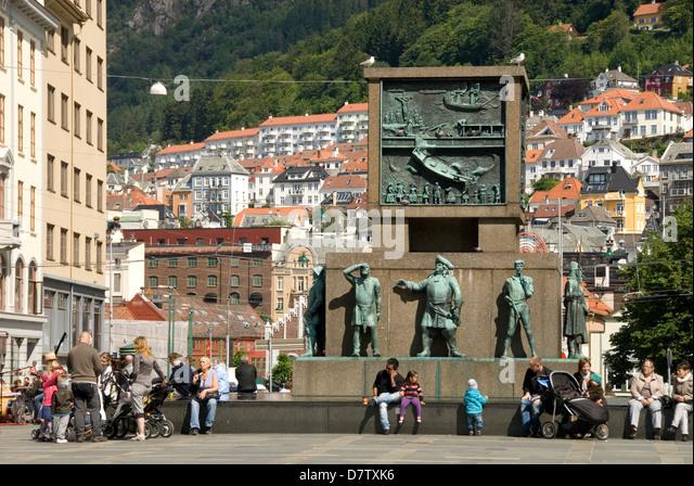 Sailors' Monument, in Torgallmeningen, Bergen, Norway, Scandinavia - Stock Image