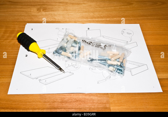 Instructions manual diy stock photos instructions manual diy stock images alamy - Diy tips assembling flat pack furniture ...