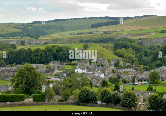 The Plague village of Eyam, Derbyshire, England - Stock Image